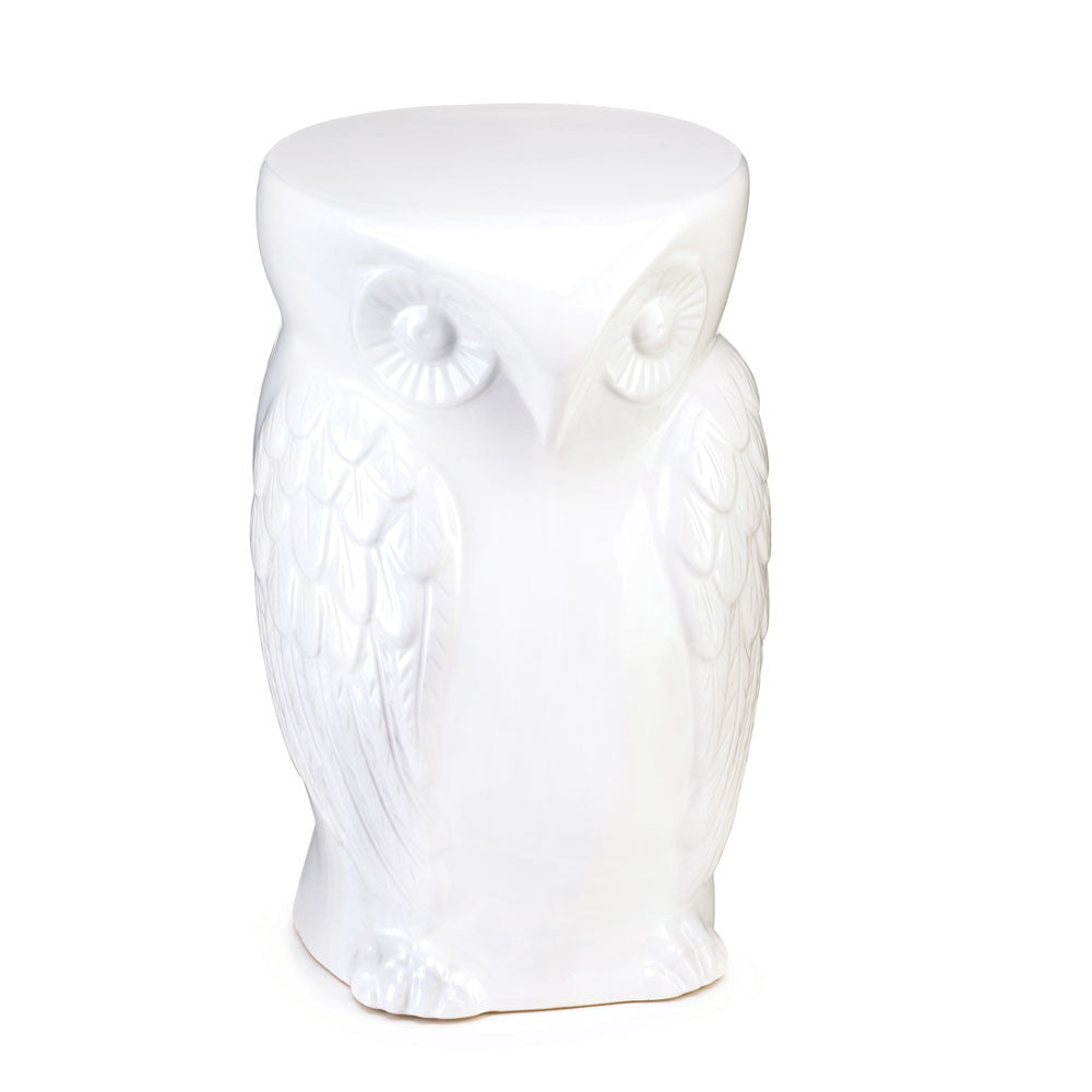 Wise Owl Ceramic Decorative Stool & Table
