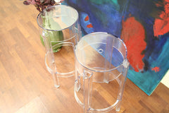 Baxton Studio Bettino Clear Acrylic Counter Stool Set of 2