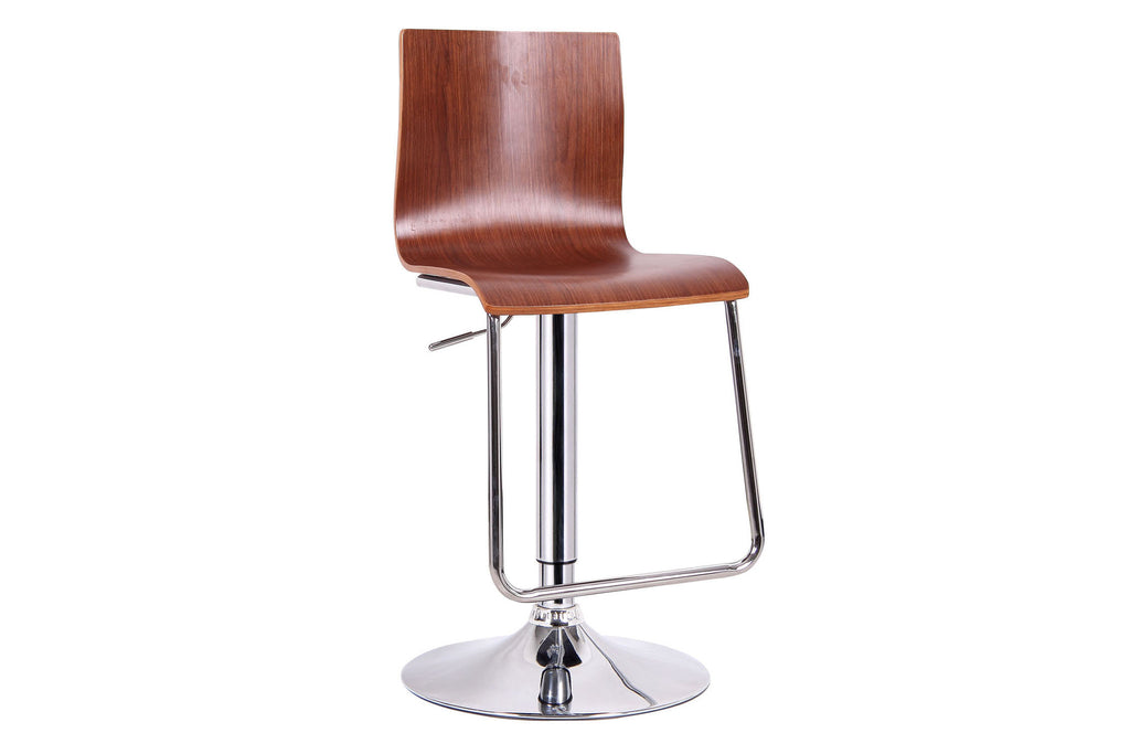 Baxton Studio Lynch Walnut Modern Bar Stool