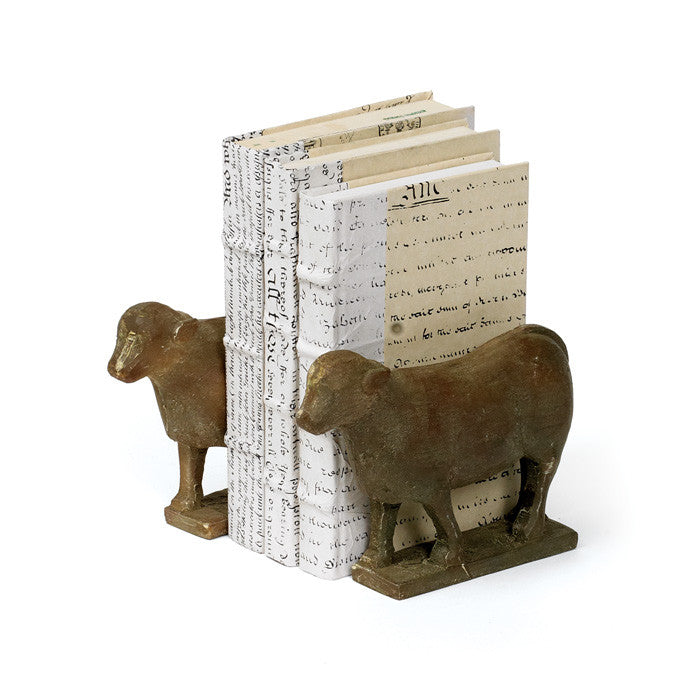 Pair of Lamb Book End