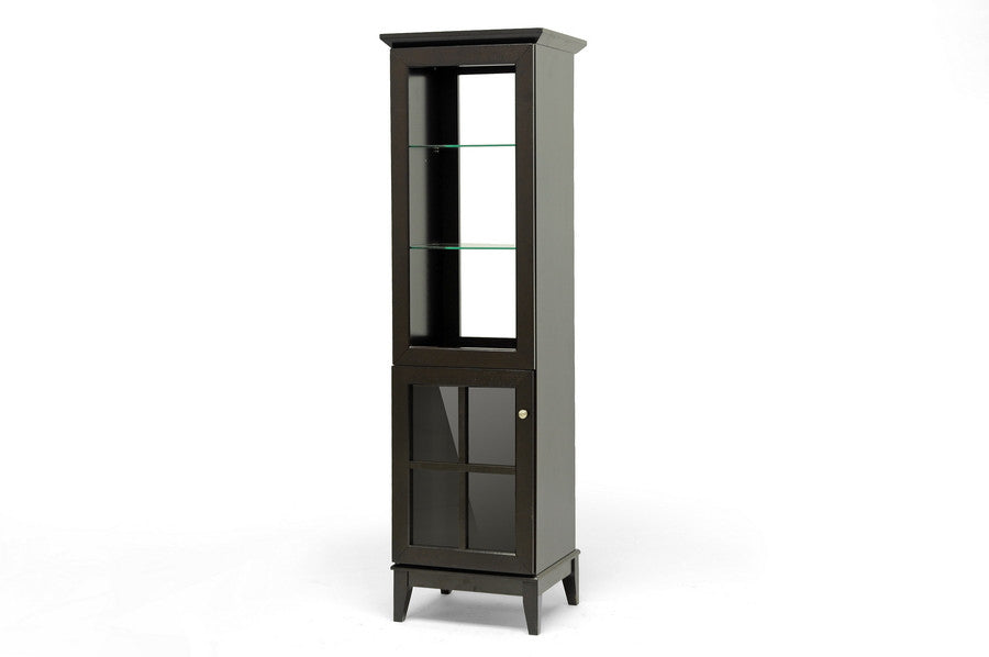 Baxton Studio Nelson Dark Brown Modern Storage Tower