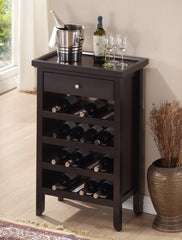Baxton Studio Atlanta Dark Brown Wine Cabinet