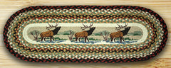 Winter Elk Oval Patch Runner