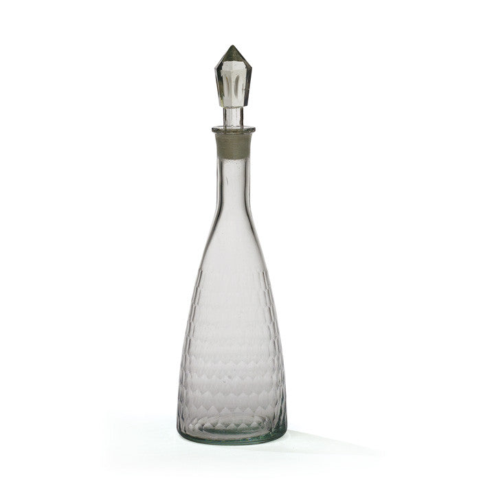 Glass Honeycomb Decanter