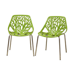 Baxton Studio Birch Sapling Dining Chair in Set of 2