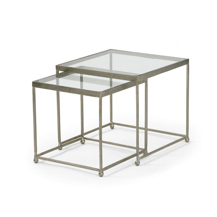 Pasquale Tables with Polished Nickel Plated Iron Finish