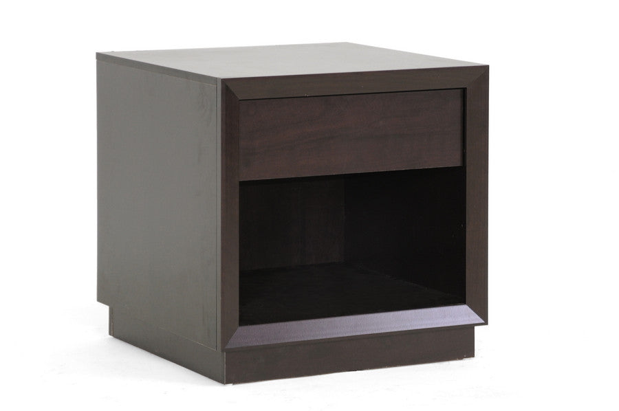 Baxton Studio Girvin Brown Accent Table and Nightstand