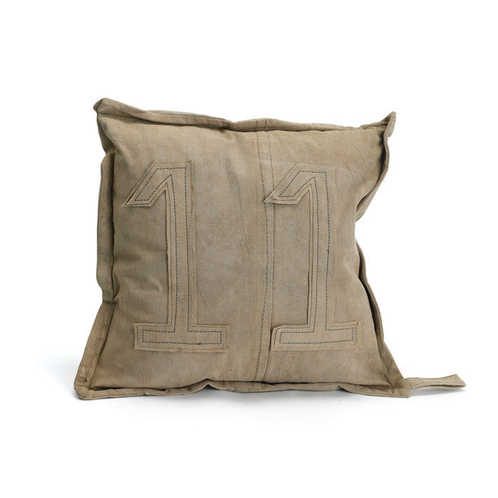 Vintage Tent Canvas #11 Gypsy Pillow
