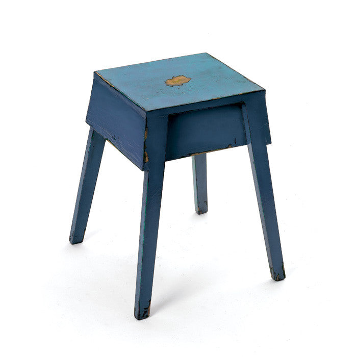 Blue Georgia Stool