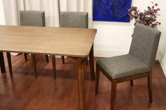 Baxton Studio Mier Brown 5 Piece Modern Dining Set