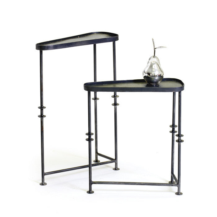 Iron Asymetrical Tables-Set of Two