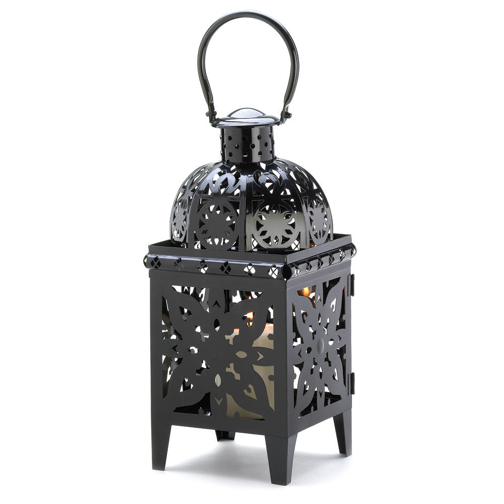 Black Medallion Lantern