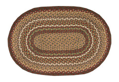 Burgundy/Ivory Braided Rug In Different Shapes And Sizes