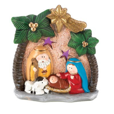 Light-Up Nativity Family Scene