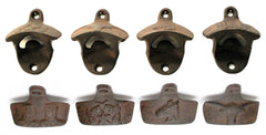 Western Cast Iron Rust Bottle Openers Set of 4