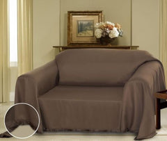 Brown Cielo Jacquard Furniture Throw Cover