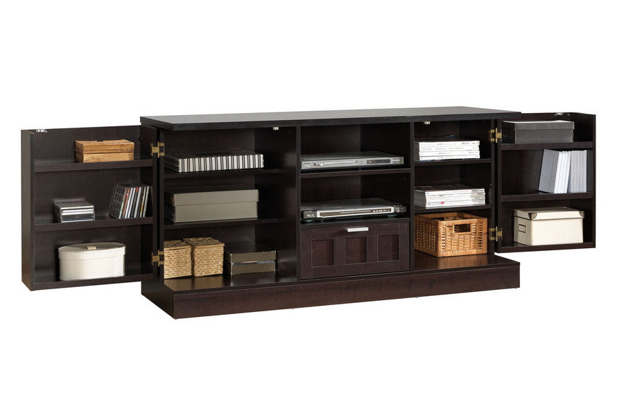 Baxton Studio Tosato Brown Modern TV Stand and Cabinet