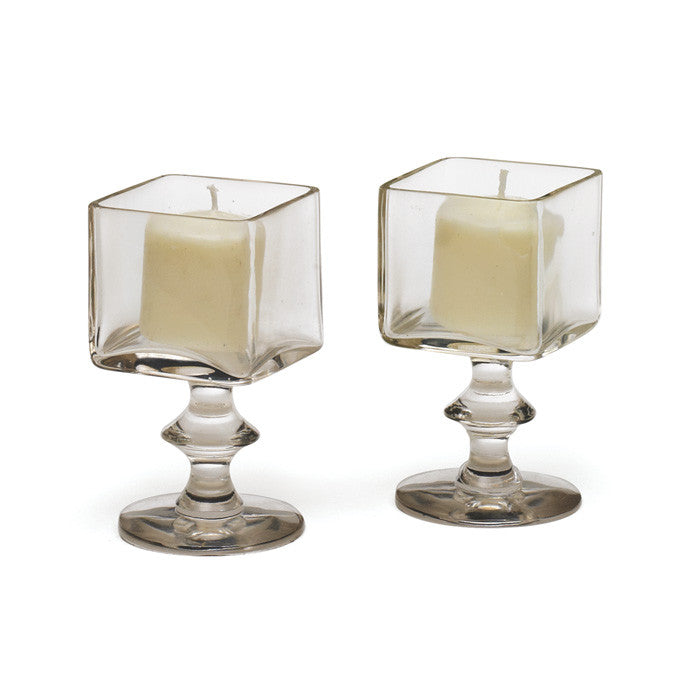 Grand Square Candle Holders-Set Of 2
