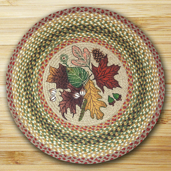 Autumn Leaves Round Patch Rug