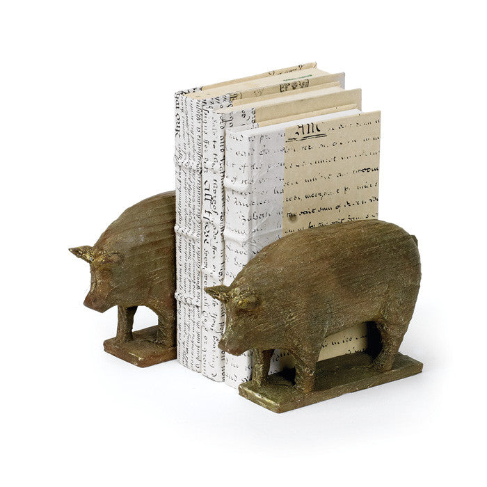 Pair of Piggy Book End