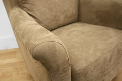 Baxton Studio Marquis Tan Microfiber Club Chair