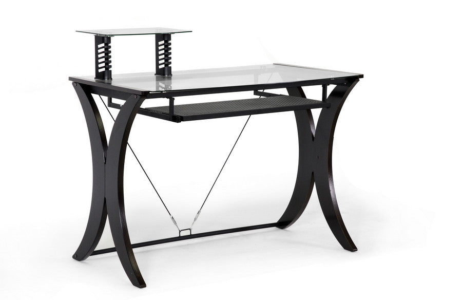 Baxton Studio Xavier Dark Brown Modern Computer Desk