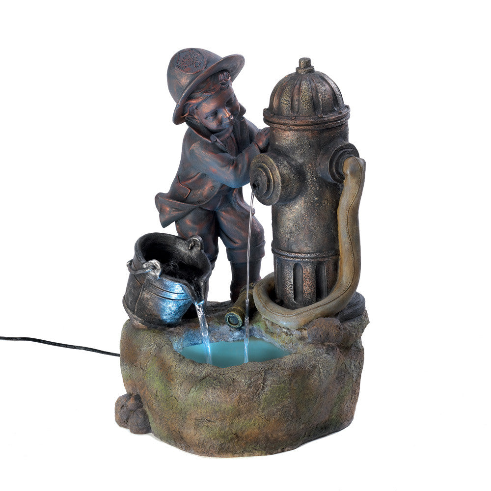 Littlest Fireman Indoor Fountain