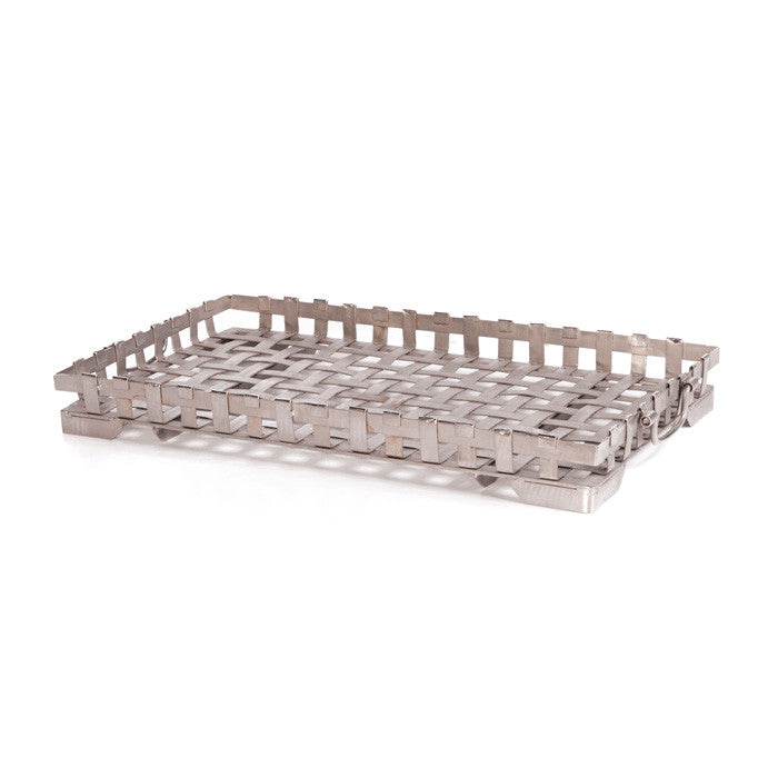 Iron Ralph Tray with Polished Nickel Plate Finish