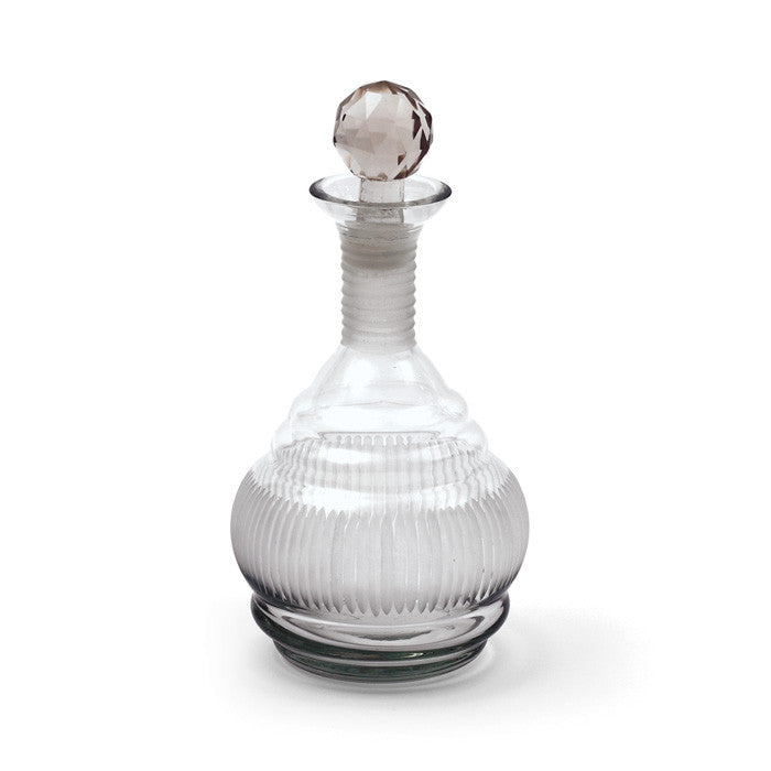 Glass Marvin Decanter with Etched Finish