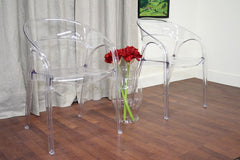 Baxton Studio Chole Acrylic Clear Chair Set of 2