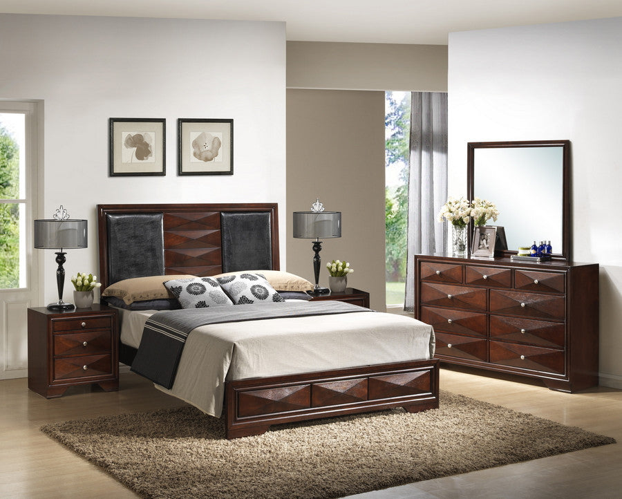 Baxton Studio Windsor Brown 5-Piece Modern Bedroom Set