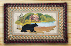 Cabin Bear Print Patch Rug