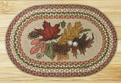 Autumn Leaves Oval Patch Rug