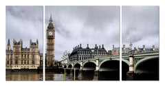 Big Ben Mounted Photography Print Triptych