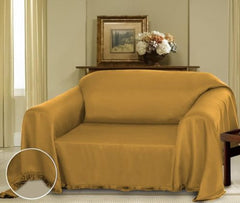 Gold Cielo Jacquard Furniture Throw Cover