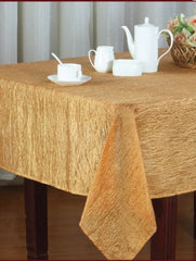 Crushed Faux Silk Tablecloth, Holiday Design