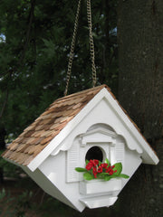 Christmas Wren Cottage Birdhouse