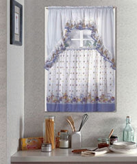 Kitchen Curtain Set, Complete Tier & Swag Set, Pots and Fruits Pattern