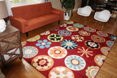 Floral Contemporary Modern Area Rugs