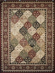 Feraghan Panal Squares Diamonds Wool Blend Area Rugs