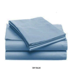 Luxurious Soft Light Solid Color Bed Sheet Set