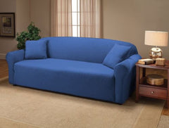 Blue Jersey Chair Stretch Slipcover, Couch Cover