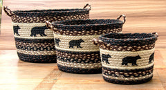 Black Bear Utility Baskets In Different Sizes