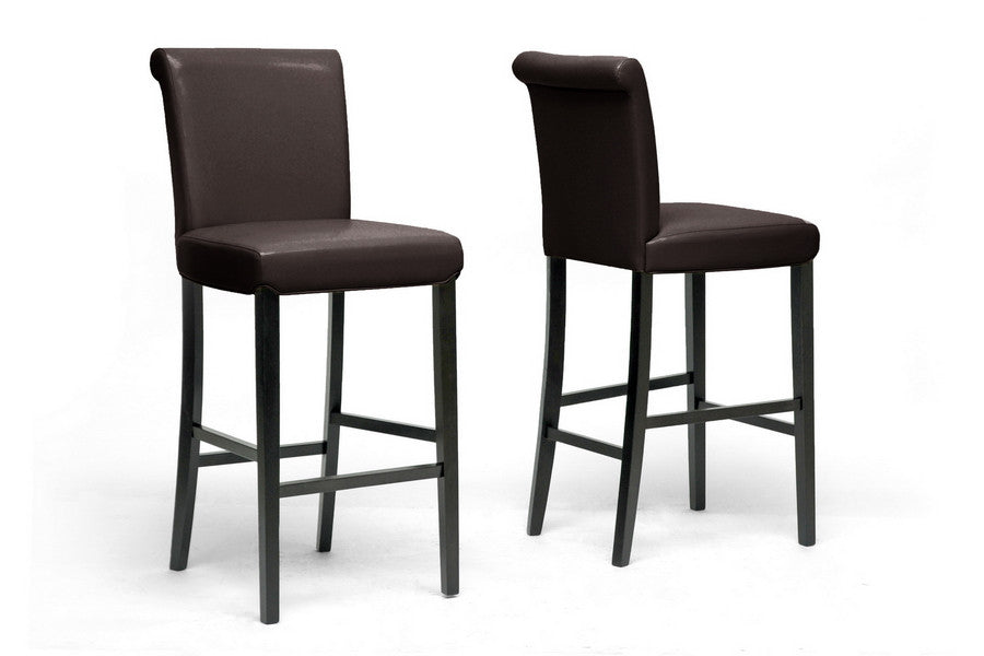 Baxton Studio Bianca Modern Bar Stool in Set of 2
