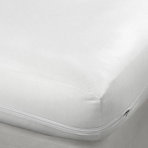 "16"" King Size Fabric Zippered Mattress Cover, Bed Bug Protector Hypoallergenic"