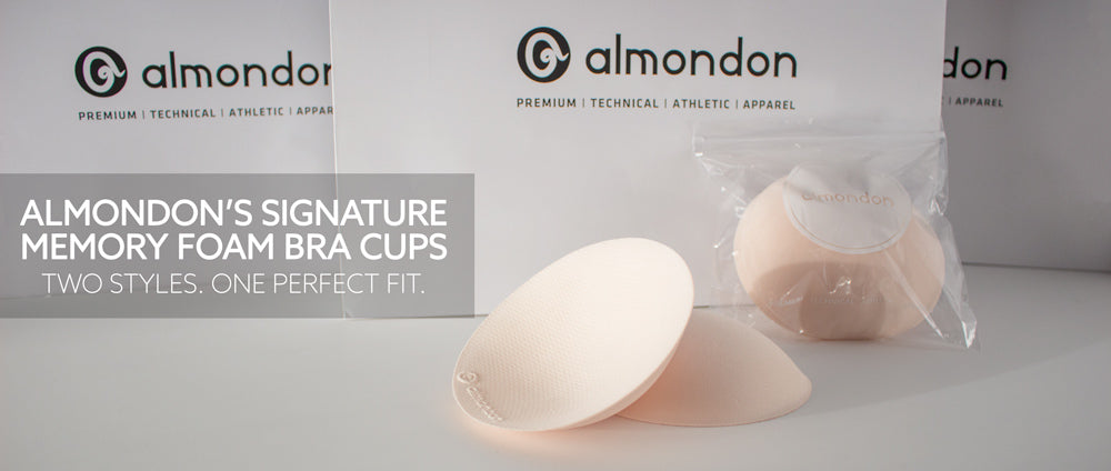 Almondon Signature Memory Foam Bra Cups - Available Thin or Padded
