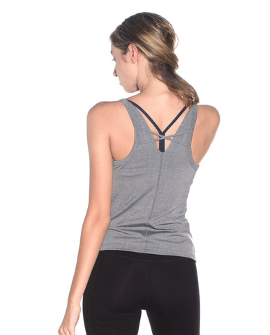 Hard Core Tank - Melange Gray