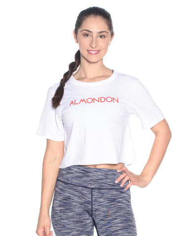 Almondon Crop Tee - Black