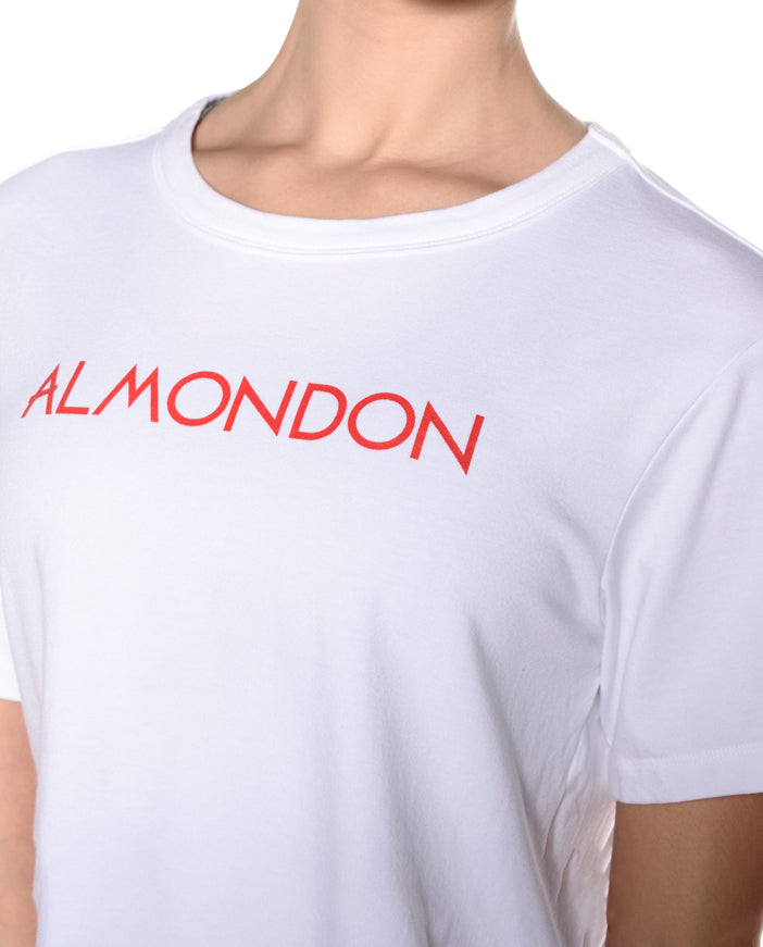 Almondon Crop Tee - White
