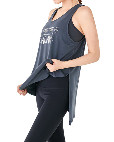 Mommy Lettering Tank - Dark Gray